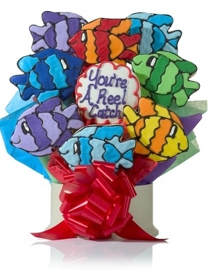 Reel Catch Fish Cookie Gift Bouquet Delete imagerjs