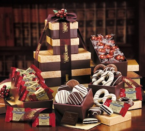 Individually Wrapped Chocolates in Logo Gift Tower imagerjs