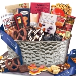Epicurean Feast Corporate Logo Gift Basket