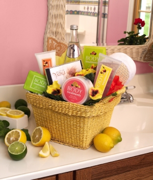 Citrus Scents Spa Gift Basket imagerjs