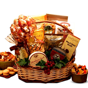 Bountiful Favorites Gourmet Gift Basket imagerjs