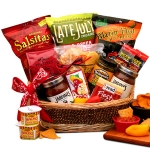 Spicy Gourmet Salsa & Chips Gift Basket