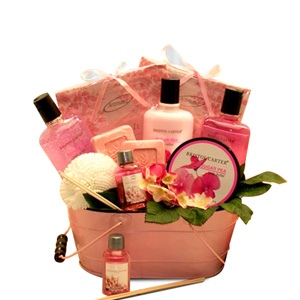 From the Heart Pink Spa Basket imagerjs