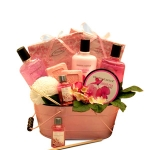 From the Heart Pink Spa Basket