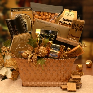 Golden Gatherings Holiday Gift Basket imagerjs
