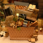 Golden Gatherings Holiday Gift Basket