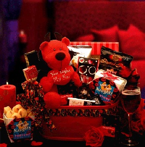 You Light My Fire Valentine Gift Basket imagerjs