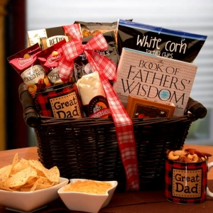 He's A Great Dad Gift Basket imagerjs