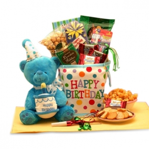 Birthday Surprise Musical Bear Gift Tote imagerjs