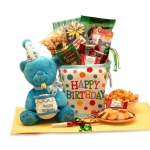 Birthday Surprise Musical Bear Gift Tote