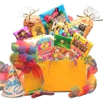 Happy Birthday Yellow Gift Box