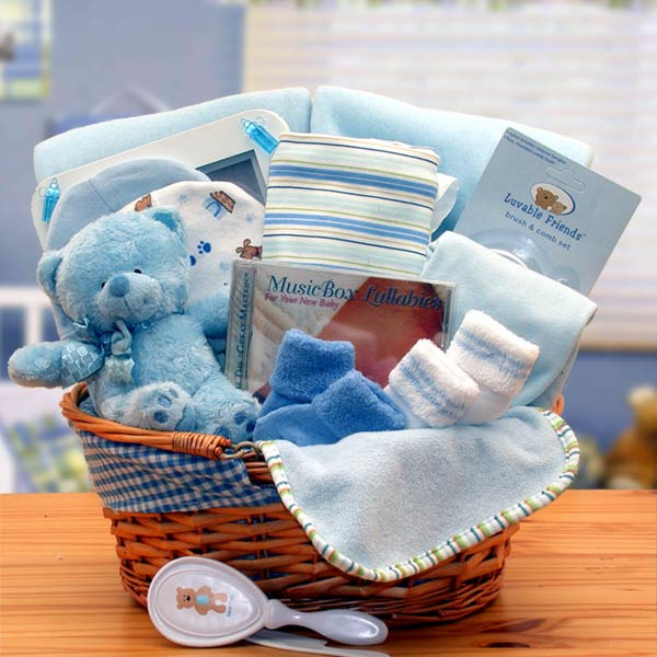See our collection of baby boy's gifts made especially for the new baby and his and parents. Welcome him with newborn baby baskets and gift baskets for boys. Send him a welcome home new baby boy gift box or welcome home starter gift basket the new parents will love!View all Baby Baskets.