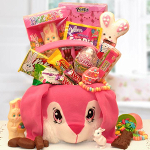 Bunny Tails Pink Easter Gift Tote imagerjs
