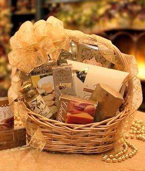 Glitter and Glitz Gourmet Holiday Gift Basket imagerjs