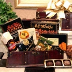 Men's Desk Caddy Gift of Gourmet Snacks