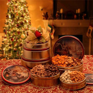 Holiday Tower of Nuts and Snacks imagerjs