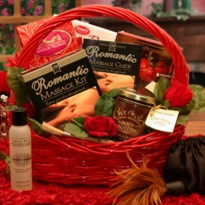Sweetest Day Romantic Massage Gift Basket imagerjs