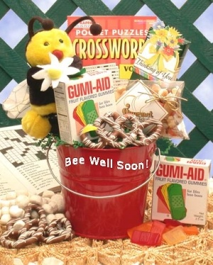 Bee Well Get Well Gift Basket data-pin-no-hover=