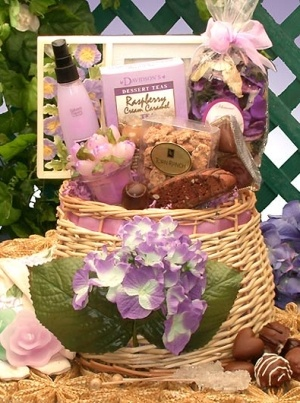 Whimsical Spring Gift Basket For Her image