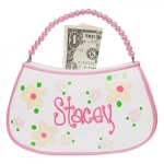 Personalized Beaded Handle Purse Bank