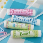 Gingham Baby Lip Balm Favors