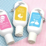 Personalized Silhouette Baby Shower Sunscreen Favors