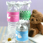Personalized Baby Design Water Bottle Labels (Set of 5)