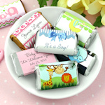 Personalized Baby Shower Mini Chocolate Bars (Many Designs)
