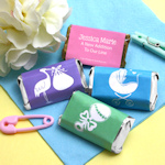 Baby Shower Silhouette Personalized Mini Candy Bars