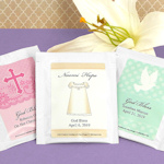 Religious Event Personalized Tea Favors (Many Designs)