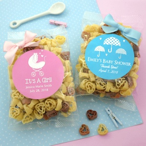 Baby Shower Silhouette Heart Shaped Pasta Favors imagerjs