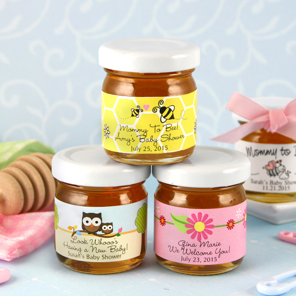 Baby Shower Personalized Honey Jars (Many Designs