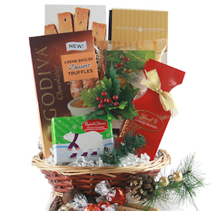 Good Cheer Holiday Gift Basket of Goodies imagerjs