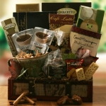 Trifecta Coffee Tea and Cocoa Gift Basket