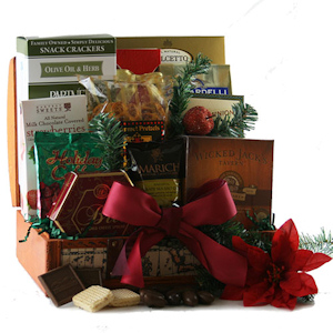 Christmas Treasures Snack Gift Basket imagerjs