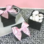 Black Mini Favor Boxes (Set of 12)