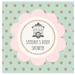 Birdcage Party Personalized Favor Tags