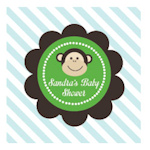 Blue Monkey Party Personalized Favor Tags