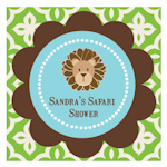 Jungle Safari Personalized Square Favor Tags