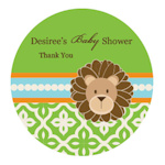 Jungle Safari Personalized Round Labels