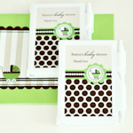 Personalized Green Carriage Notebook Favors