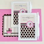 Personalized Pink Carriage Notebook Favors