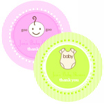 Round Baby Shower Labels