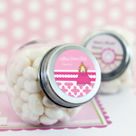 Princess Party Personalized Candy Jars
