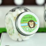 Personalized Jungle Safari Candy Favor Jars