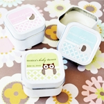 Baby Animals Square Personalized Candle Tin Favors