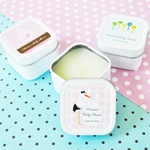 Elite Baby Designs Personalized Square Candle Tins