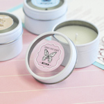 Vintage Baby Personalized Round Candle Tins
