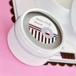Cupcake Party Personalized Round Candle Tins