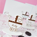 Baby Carriage Place Card Holder Favor Box (Set of 12)